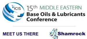 Meet Shamrock in Dubai for the ICIS Base Oils & Lubricants Conference
